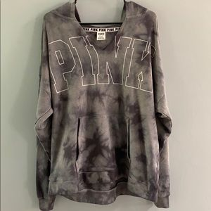 PINK Tie-dye Oversized Sweater